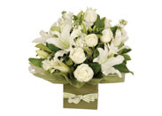 White flower arrangement on special