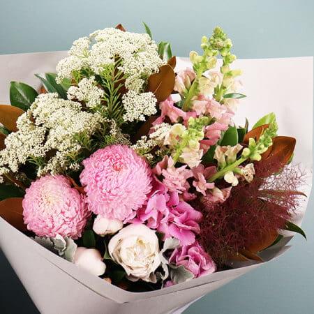 Seasonal Pastel Pink Flower Bouquet