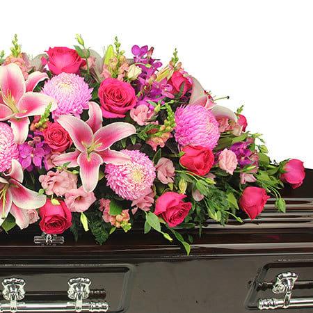 Gorgeous Pink Casket Flowers Sydney