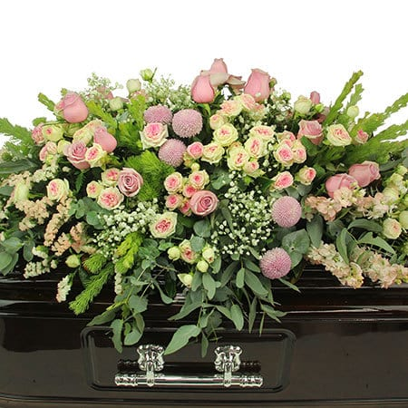 Ethereal Pink Casket Flowers