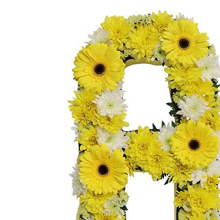 Sunshine Yellow Floral Funeral Tribute