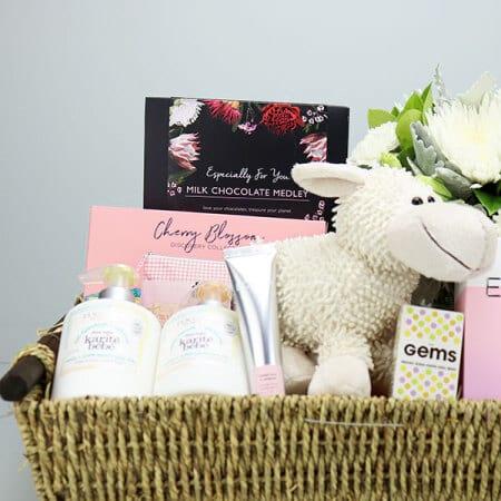 Pink Lamb Baby Hamper