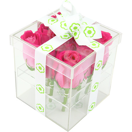 Pink rose box