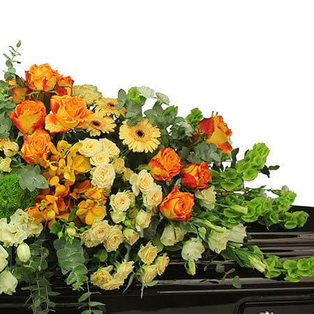 Dreamy Apricot Casket Flowers