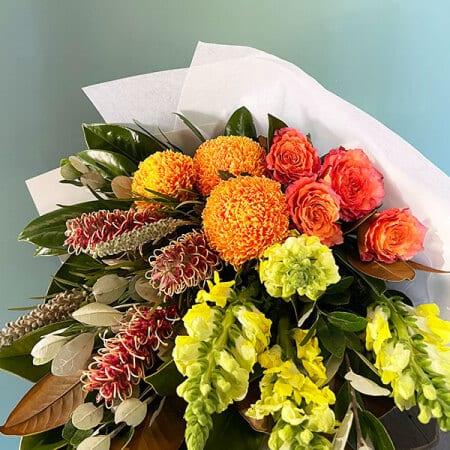 Orange yellow flower bouquet