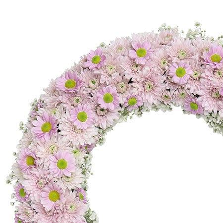 Precious Pink Funeral Wreath