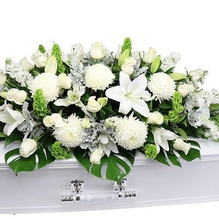 Garden White Casket Flowers