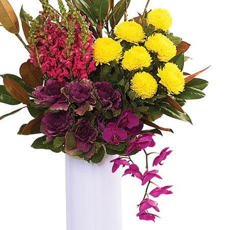 Tall Bright Vase