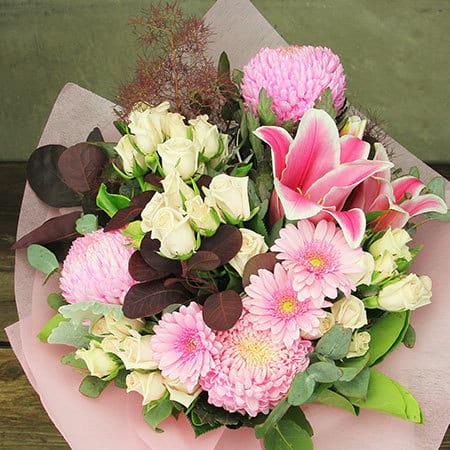Pom Pom Pink Flowers