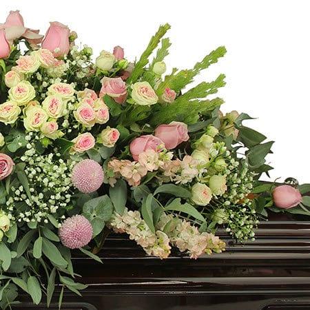 Ethereal Pink Casket Flowers Delivered