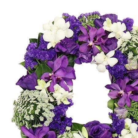 Lush Purple Floral Letter