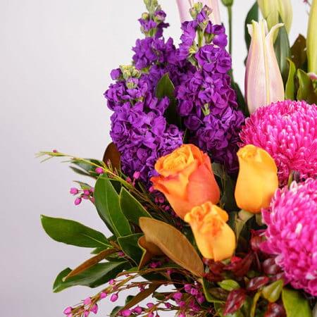 bees knees flower basket