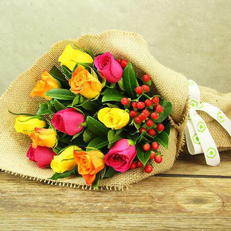 Spring Rose Posy
