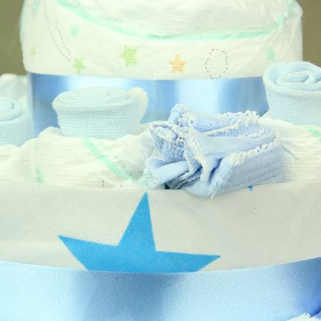 Blue Nappy Cake Delivered