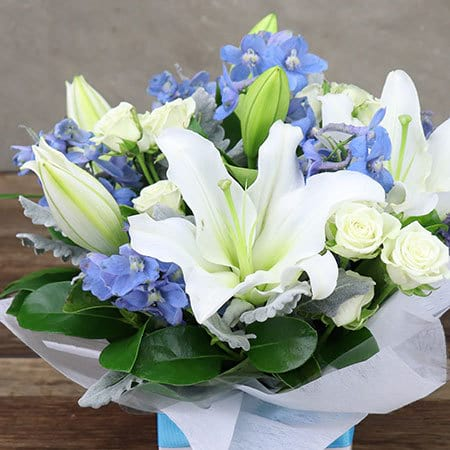 Sky Blue Flower Box Delivery