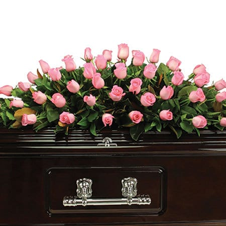 Pink Rose Casket Flowers