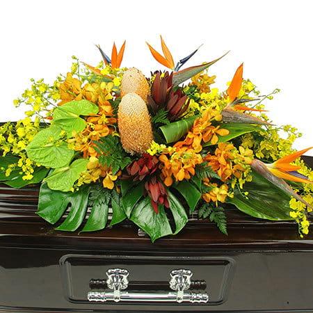 Bird of Paradise Funeral Casket