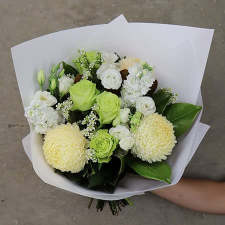 Gift Wrapped White Bouquet