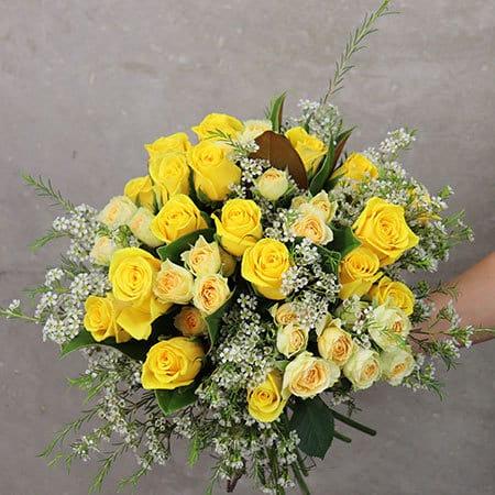 Limoncello Rose Flower Bouquet