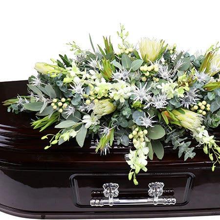 Elegant White Casket Flowers Sydney