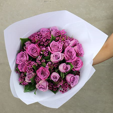 Sugarplum Rose Flower Posy