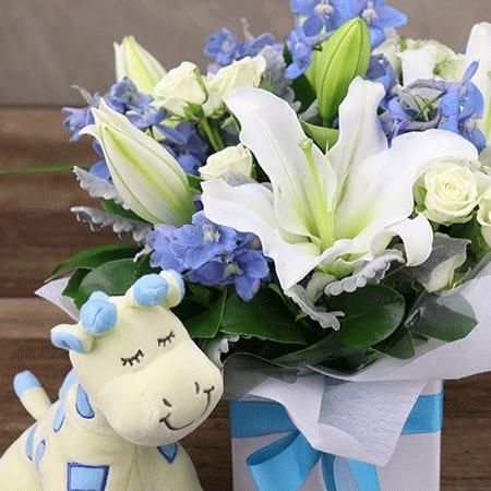 Dreamy Blues Baby Flowers