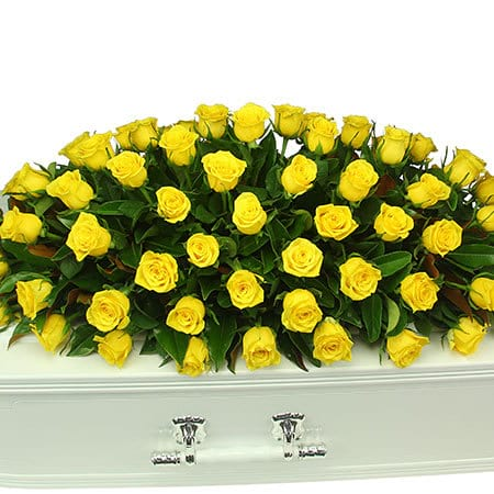 Yellow Rose Casket Flowers