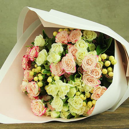 Lovely Pink and White Rose Bouquet