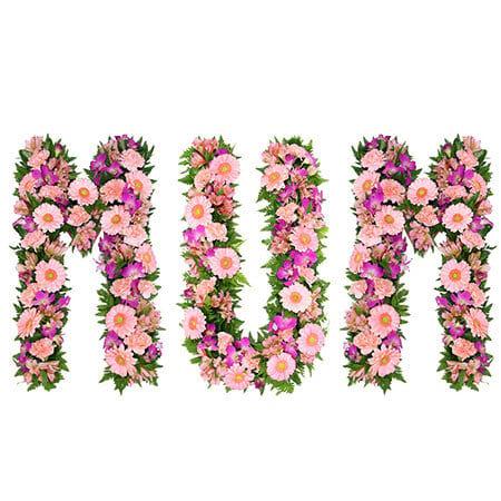 Floral Mum Letter Tribute