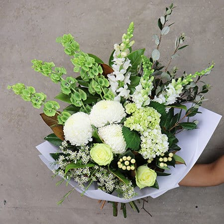 Gift Wrapped Timeless White Bouquet