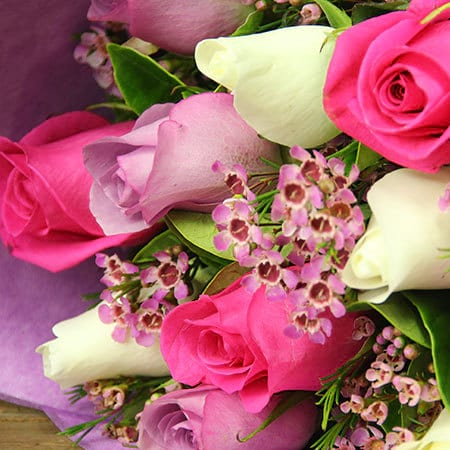 Mixed Pastel Rose Bouquet Delivery