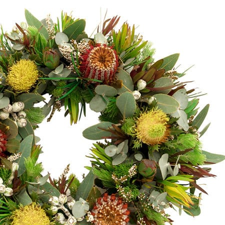 Earthy Native Funeral Wreath