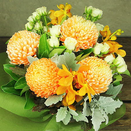Orange Gelati Flower Vase Delivered