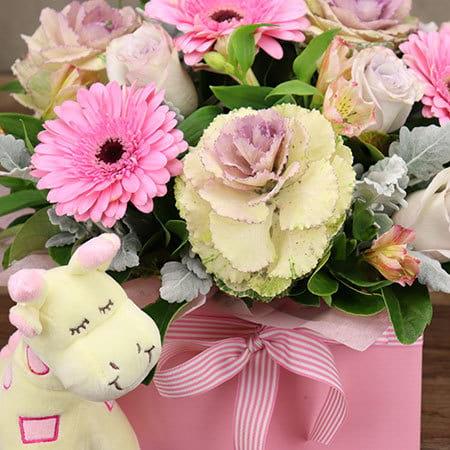 Cupcake Pink Flowers