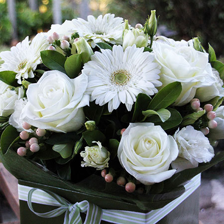 white boxed arrangement