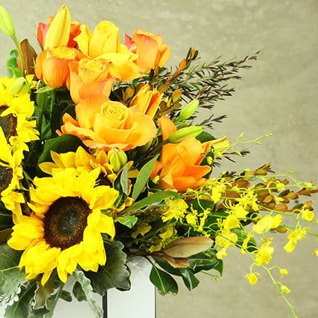 Sunshine in a Box Flowers Delivered