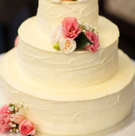 Cake With Pink Lemon Amp White Flowers Wedding Cakes