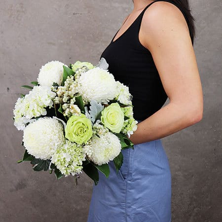 Pearl White Posy Delivered