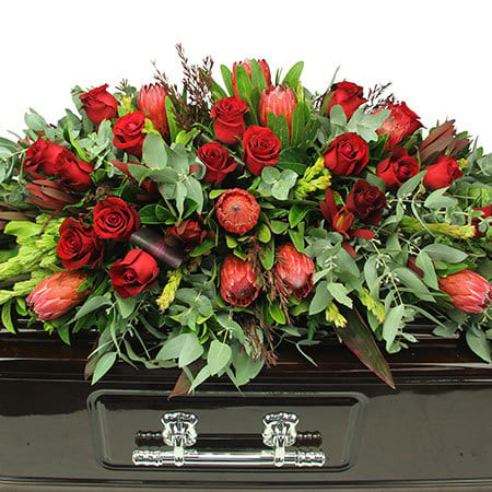 Natural Love Casket Flowers