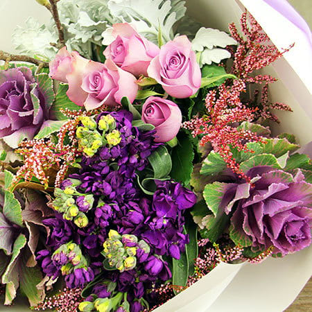 Wild Springtime Purple Bouquet