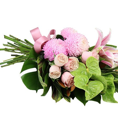 Pretty Tropical Sheaf Sydney Funeral Flowers