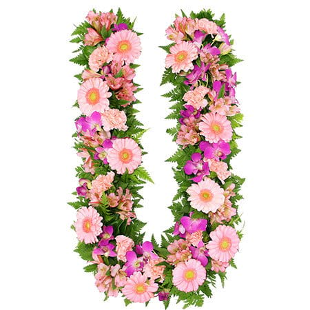 Lush Pink Floral Letter