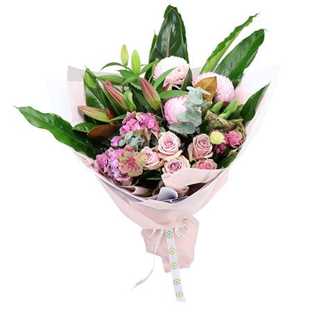 Paris Pink Flower Bouquet