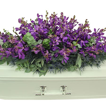 Purple Orchid Casket Flowers