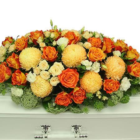 Apricot Casket Flowers
