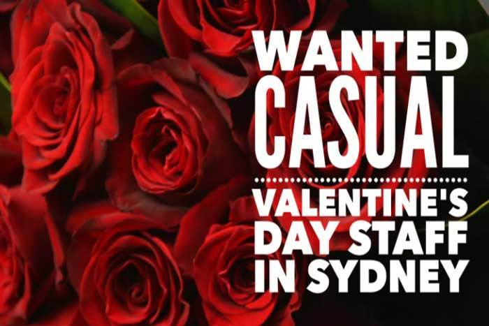 Casual Valentines Day Staff Wanted!