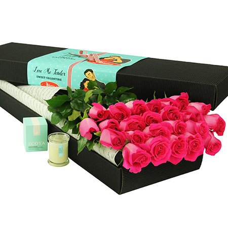24 Long Stem Pink Roses (Sydney Only)
