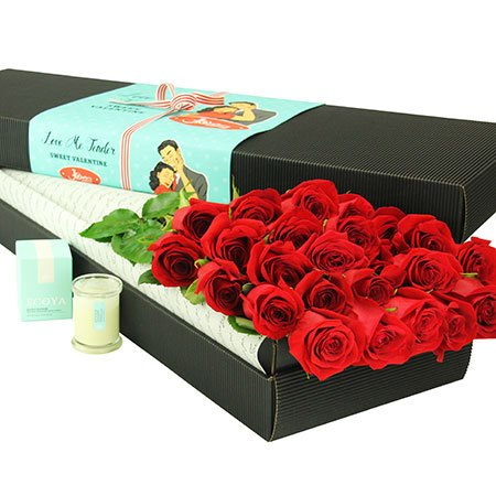 24 Long Stem Red Roses (Sydney Melbourne Perth Only)