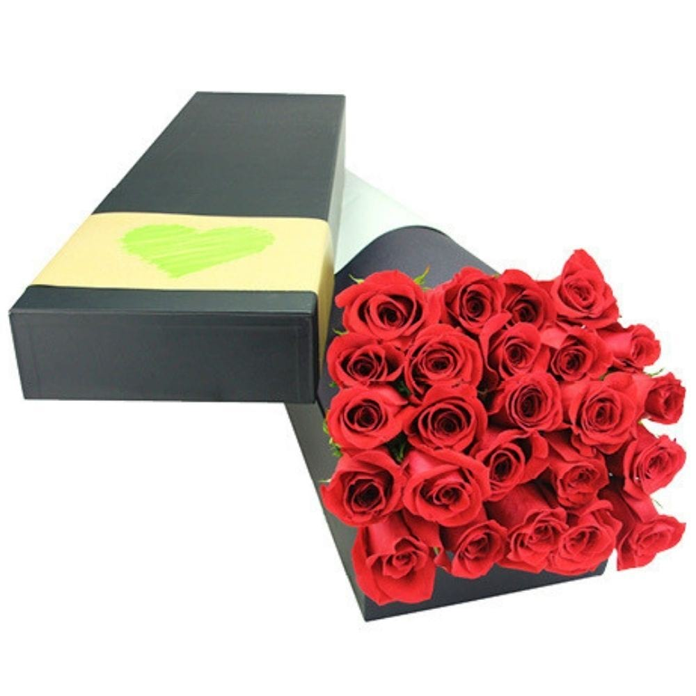 24 Long Stem Red Roses (Sydney Melbourne Perth Brisbane delivery Only)