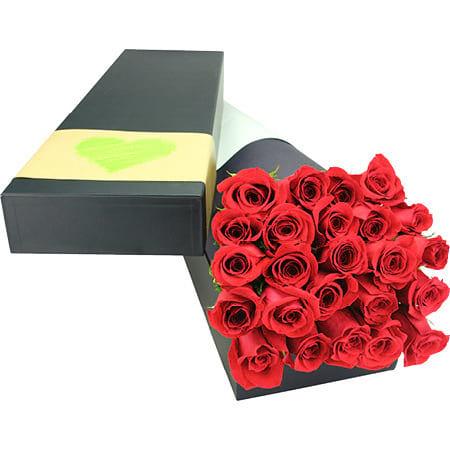 24 Long Stem Red Roses